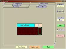 Digitale Darstellung der Software vom Kraftmesser