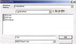 Druckmessgerät PCE-P: Dateinamen vergeben