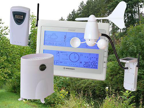 Die DCF-Funk-Wetterstation 4CastPC mit allen Sensoren