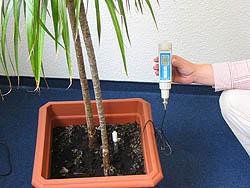 Uach zur Messzung im Pflanzenbereich wird das Erd-pH-Meter eingesetzt.