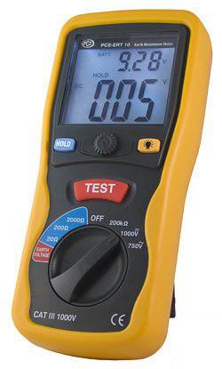 Das Erdungstestgerät PCE-ERT 10 zur Bestimmung des Erdwiderstandes