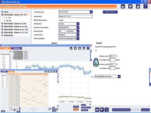Optional erhältliche Software zum Funkdatenlogger