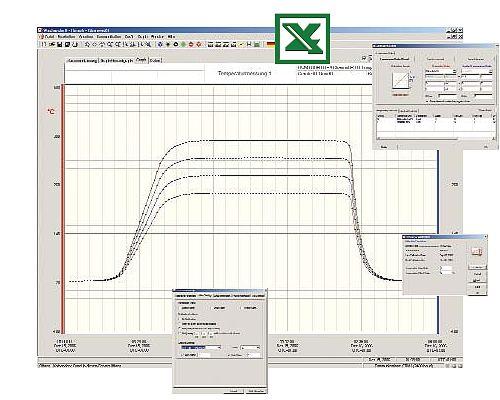 Die professionelle Software zum Hochtemperatur-Datenlogger PCE-T   150/250