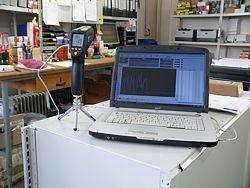 Das Infrarotthermometer in Verbindung mit der Software
