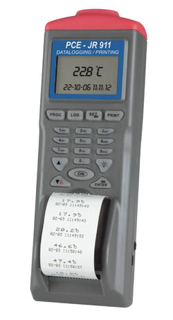 Datenlogger-Infrarotthermometer mit Speicher, Drucker und Software