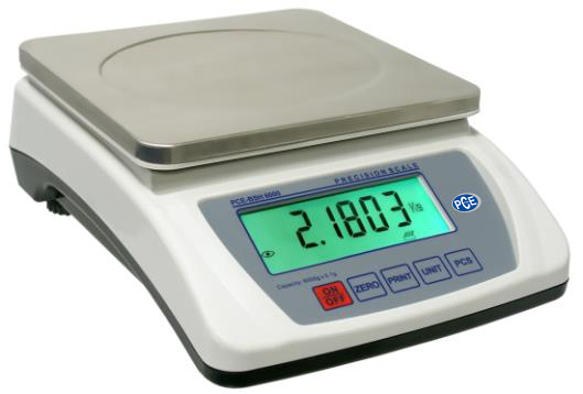 Digitale Kleinwaage PCE-BSH 6000 mit Edelstahlwägeplatte