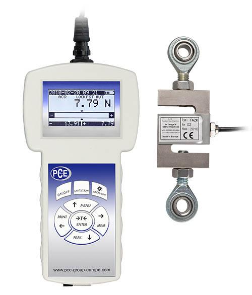 präzisions Kraftmesser mit externer Kraftmesszelle für Zug und   Druckmessung