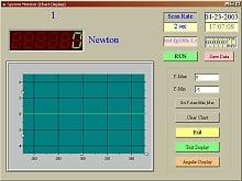 Softwarebild vom Kraftmessgerät der PCE-FM-Serie