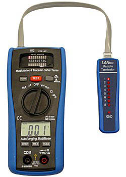 Lan-Testgerät mit Multimeter PCE-LT1