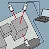 Lasermeter: Positionsmessung z.B. von Paketen auf Förderbändern