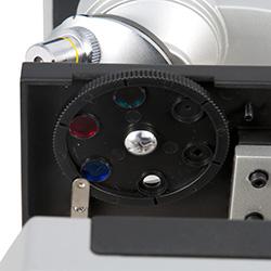 Hier sehen sie die Farben-Filterscheibe vom LCD-Schüler-Mikroskop