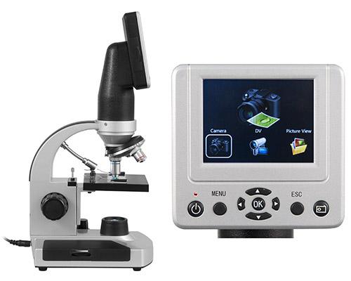 Das LCD-Schüler-Mikroskop mit Display und übersichtlichem Menü.