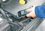 Handpyrometer MS-Plus in der Kfz-Diagnose