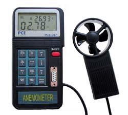 Anemometer mit separatem Flügelrad, Speicher, Schnittstelle und Software