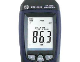 Das grosse und sehrgut ablesbare Display vom Schallmessgeraet PCE-322A