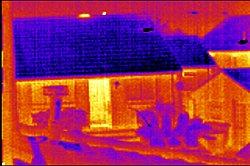 Wärmestrahlung von Gebäuden
