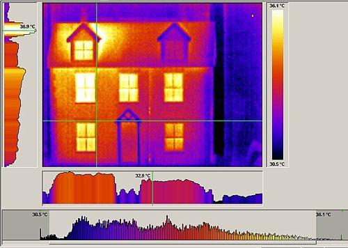 Abbildung der mitgelieferten Software zur Wärmebildkamere