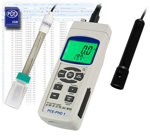 pH-Meter mit Speicher und optionaler Software