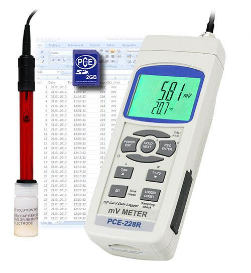 Das Redox-Messgerät PCE-228-R inkl. Redox-Elektrode OPR-14