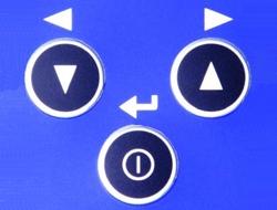 Hier sehen Sie das Tastenfeld des Schwingungsanalysator PCE-VT 250 mit seinem einfach zu bedienenden Button