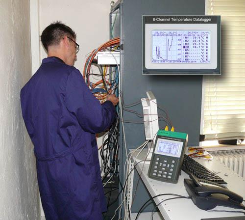 Der Temperaturdatenlogger PCE-T 800 im Einsatz bei der Überwachung der Temperatur
