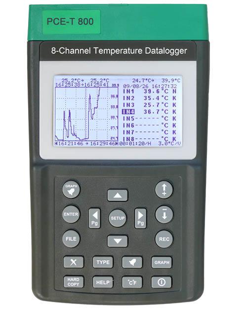 Weitere Informationen zumTemperaturdatenlogger PCE-T 800