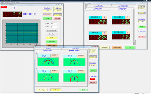 Die optionale Software zum Online Übertragen der Messdaten.