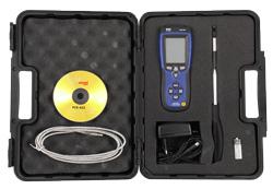 Das Zubehör mit welchem das Thermo Anemometer ausgeliefert wird.