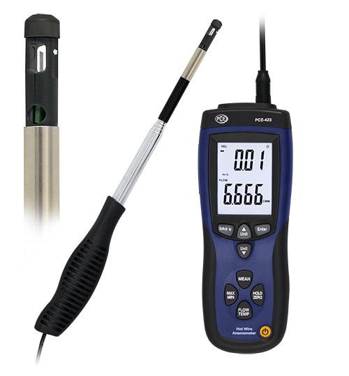 Thermo - Anemometer für kleine Luftgeschwindigkeiten und externer Sonde