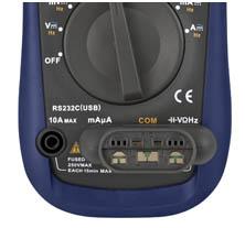 Das TRMS Multimeter PCE-UT 61E mit dem dazugehörigen Adapter