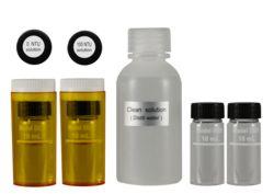 Kalibrierstandards, Reinigungslösung und Küvetten des Trübungsmessgeräts PCE-TUM 20