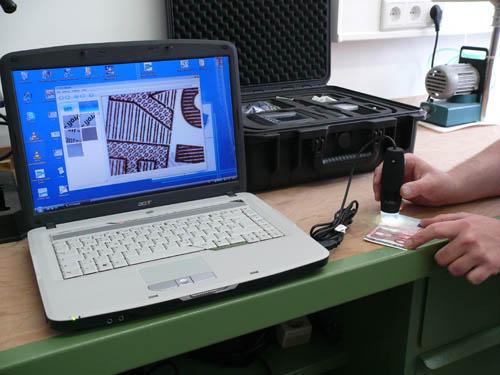 Anwendungsbeispiel für das PC - Mikroskop PCE-MM 200