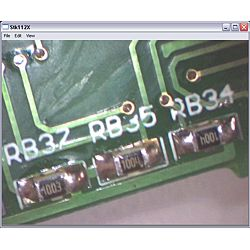 Anwendung des USB - Mikroskop PCE-MM 200 bei der Untersuchung einer Platine