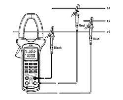 3 Leiter-Messung mit Zangen- Leistungsmessgerät PCE-UT232