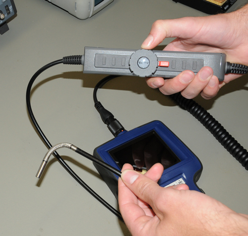 Anwendung des 2 Wege Endoskop PCE-VE 350
