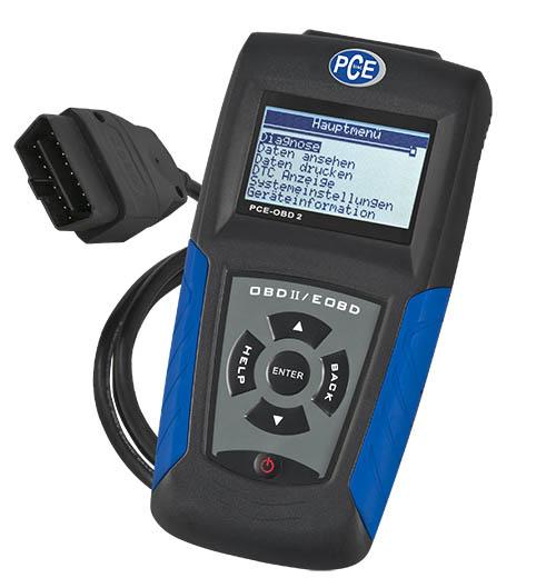 OBD Kfz Diagnose-Scanner PCE-OBD 2 mit Grafikdisplay und vielen Zusatzfunktionen.