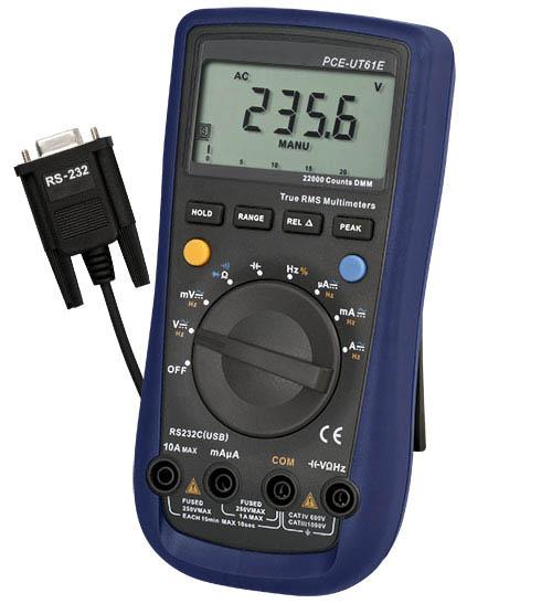 Das TRMS Multimeter PCE-UT 61E
