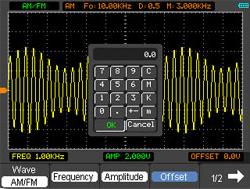 FM-Modulation im Oszilloskop PCE-DSO8060