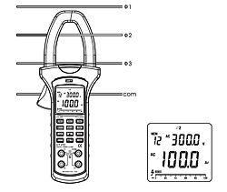 Anwendungsbeispiel zum Zangen- Leistungsmessgerät PCE-UT232