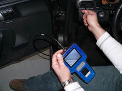 Videoskope im praktischen Einsatz an einem Lüftungskanal