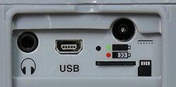 Hier sehen Sie die Anschlüsse der Wärmebildkamera PCE-TC 3D.