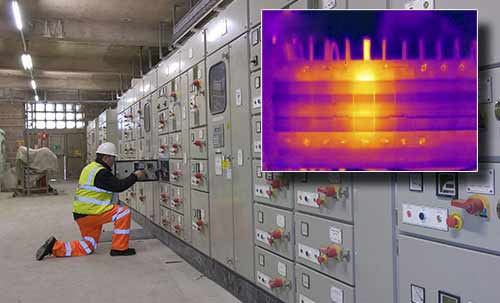 Die Wärmebildkamera im Einsatz im Bereich Elektro.