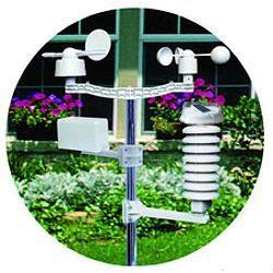 Wettermast der Wetterstation mit Sensoren