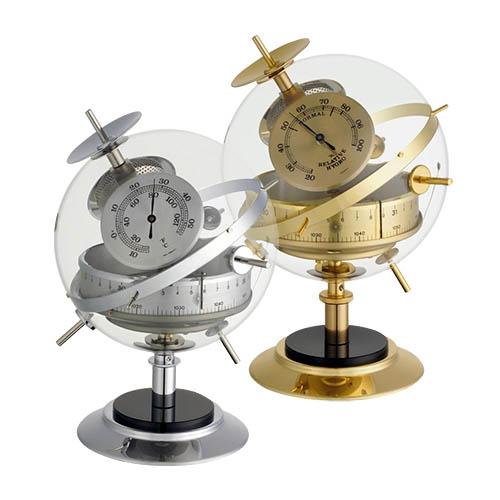 Wetterstation Sputnik in Messing oder Edelstahl