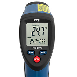 Infrarood thermometer PCE-889B display