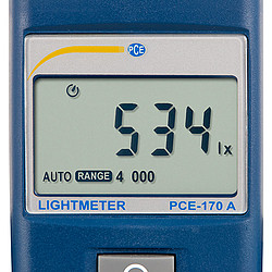 Lichtmeter PCE-170A display
