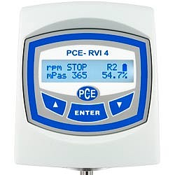 Viscositeitsmeter PCE-RVI 4 VP 60 display