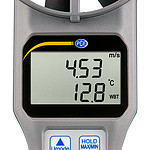 Flowmeter PCE-VA 20 display