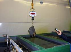 Crane scales to be used in a galvanized installation