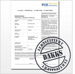 Test Instruments DAKKS Certificate